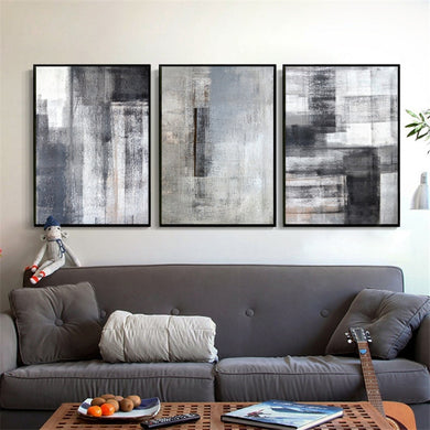 Minimalist Picture Creative Imagine Black White Canvas Painting (Free Delivery)