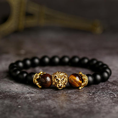 Vintage Crown Lion Head Bracelet for Men
