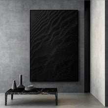 Modern Black Wave Canvas Painting (Free Delivery)