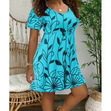 Casual Short Sleeve dress (Free Delivery)