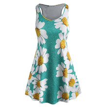Summer Sleeveless Floral Casual Dress Women