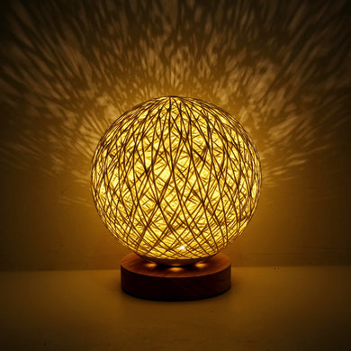 3W USB Moon Table Lamp Dimmable Hand-Knit Bedroom Lampshade (Free Delivery)
