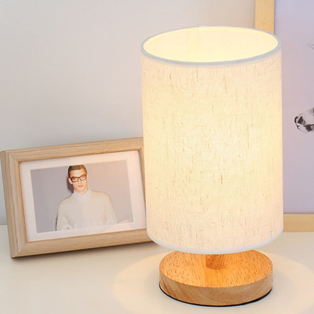 USB powered Modern Nordic wood table lamp night (Free Delivery)