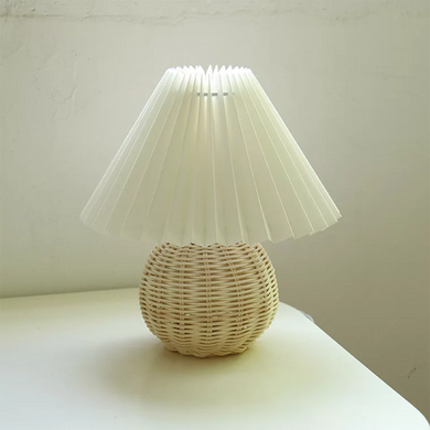 Vintage Rattan Lamp Table Korean Table Lamps for Bedroom (Free Delivery)
