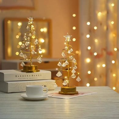 Crystal Christmas Tree Led Night Light Fairy Copper Wire Table Lamp (Free Delivery)