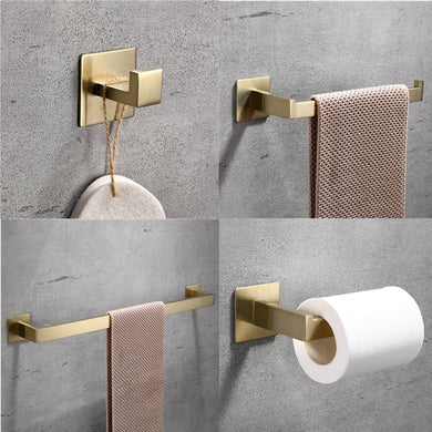 Gold Bathroom Hardware Set Free Punch Bathroom Accessories (Free Delivery)