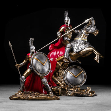 Exquisite Vintage Roman Warriors Crafts Resin Spartan Model Figurine (Free Delivery)