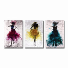 Watercolor Dancing Skirt Girl (Free Delivery)
