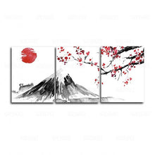 3 Panel Chinese Style Plum Wall Art Canvas Painting (Free Delivery)