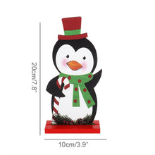 1set Christmas Church DIY Table Wooden Ornament Snowman (Free Delivery)