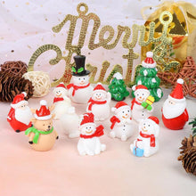 Mini Resin Christmas Tree Deer Snowman Decoration Santa Model (Free Delivery)