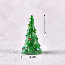 Christmas Santa Christmas Tree Figurines Fairy Garden Decor with Snow Landscape (Free Delivery)