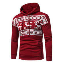 Christmas Snowflower Prints Pullover Winter Sweater for Men (Free Delivery)