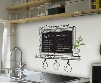 Modern Romance kitchen Chalkboard waterproof Vinyl Sticker (Free Delivery)