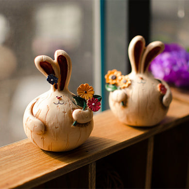 Artificial resin rabbit home decoration (Free Delivery)
