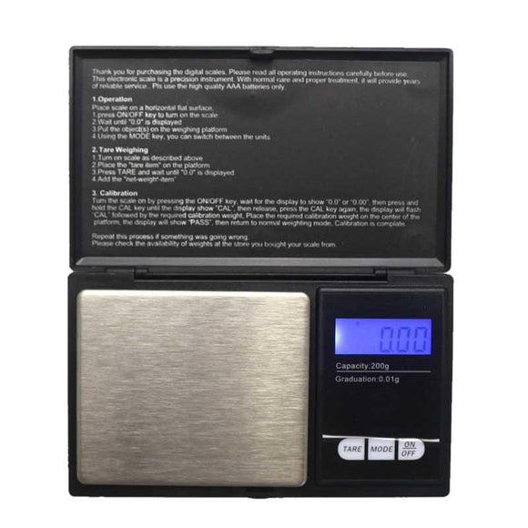 200g/0.01g Digital Pocket Electronic Jewelry Libra Weight Gram Scale