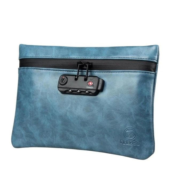 Leather Smell Proof Bag With Lock For Smoking Accessories - StonerStyle