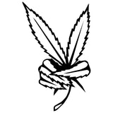 Weed Leaf Peace Sign Car Sticker