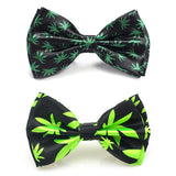 Weed Pattern Bow Ties/Ties