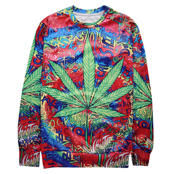 New Arrival Men Sweatshirt 3D Printed Natural Hemp Leaf Vintage Graphic Hoodies Homme Fashion Long Sleeve Pullovers For Unisex