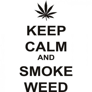 Keep Calm And Smoke Weed Vinyl Wall Sticker