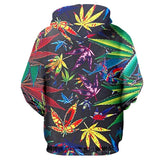 Multi-Color Weed Flower Hoodie