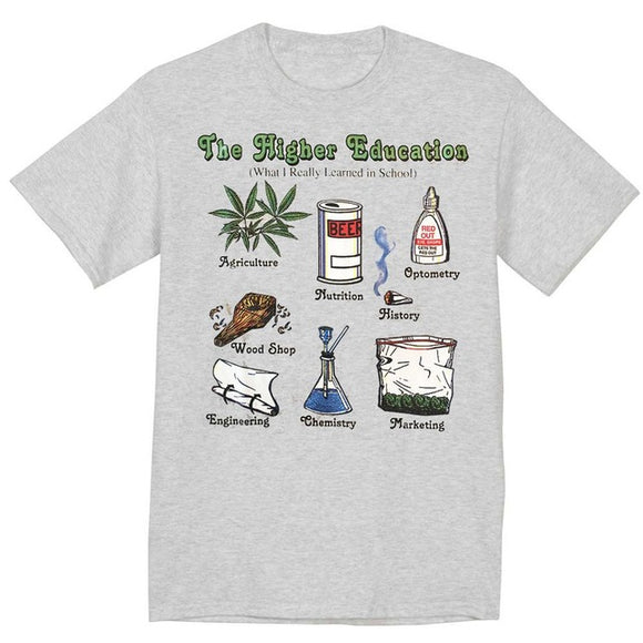 The Higher Education Weed T-Shirt - StonerStyle