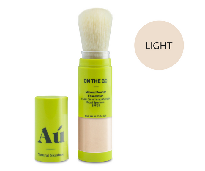 On The Go - Brush On Mineral Powder Sunscreen SPF25 by Au Natural Skinfood - Light Colour