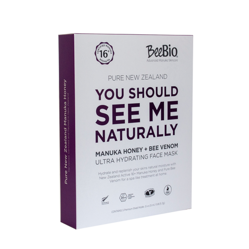 BeeBio Bee venom And Manuka Honey Sheet Mask Pack Of 5 - Shop Now