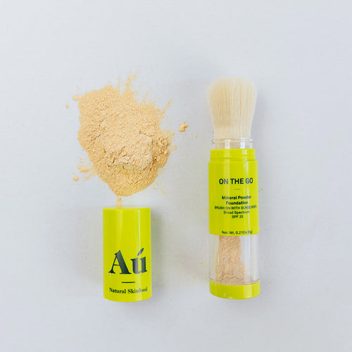 On The Go - Brush On Mineral Powder Sunscreen SPF25 by Au Natural Skinfood