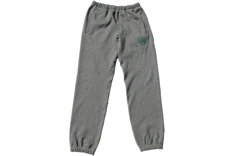 Charcoal grey LOTW Gear relaxed sweatpants with green and grey embroidered logo