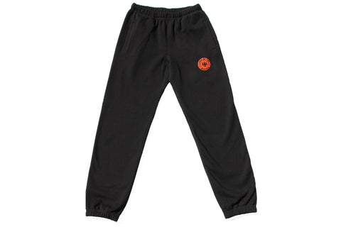 Black LOTW Gear relaxed sweatpants with orange and black embroidered logo