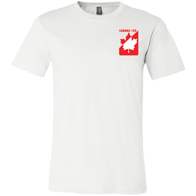 Red and White Maple Leaf Youth Short Sleeve T-Shirt (SmallPrint)