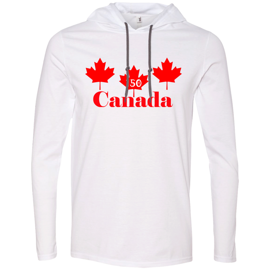 3 Maple Leafs Long Sleeve T-Shirt Hoodie
