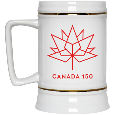 Canada 150 Red Maple Leaf Beer Stein - 22 oz