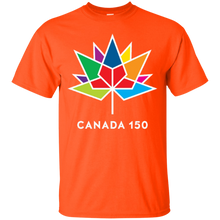 Unisex Ultra Cotton T-Shirts, Canada 150 MultiColour Maple Leaf