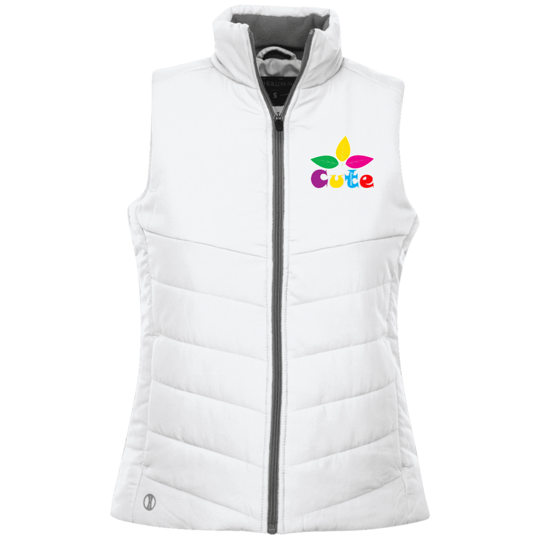 Ladies' Cute Embroidery Quilted Vest