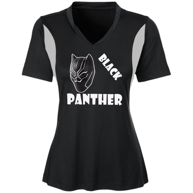 His and Hers Women Sport Jersey, Black Panther Short Sleeve Ts
