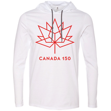 Canada 150 Red Maple Leaf Long Sleeve T-Shirt Hoodie