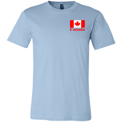 Canadian Flag Unisex Short Sleeve T-Shirt (SmallPrint)