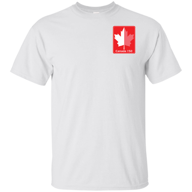 White and Red Maple Leaf Unisex Ultra Cotton T-Shirt
