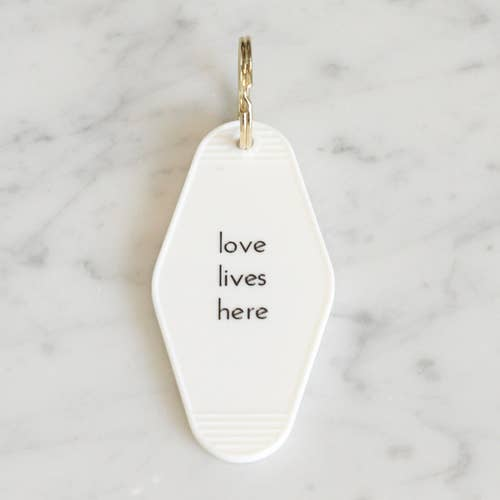 He said, She said - Love Lives Here Motel Key Tag