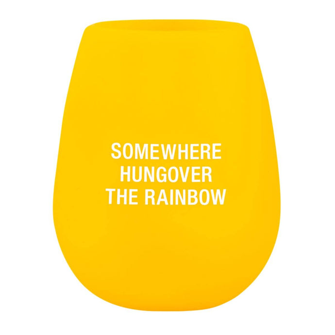 About Face Designs - Hungover The Rainbow Stemless Silicone Wine Glass