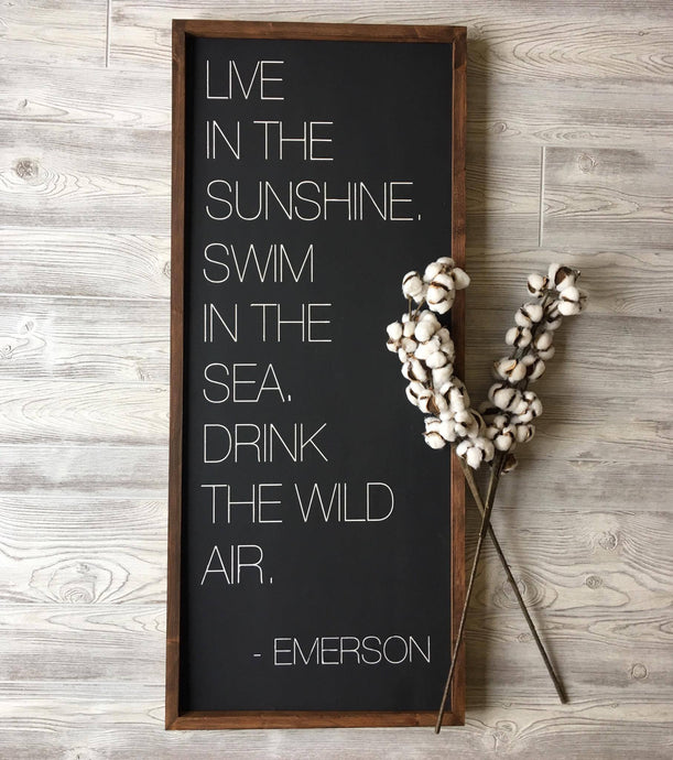LIVE IN THE SUNSHINE - EMERSON