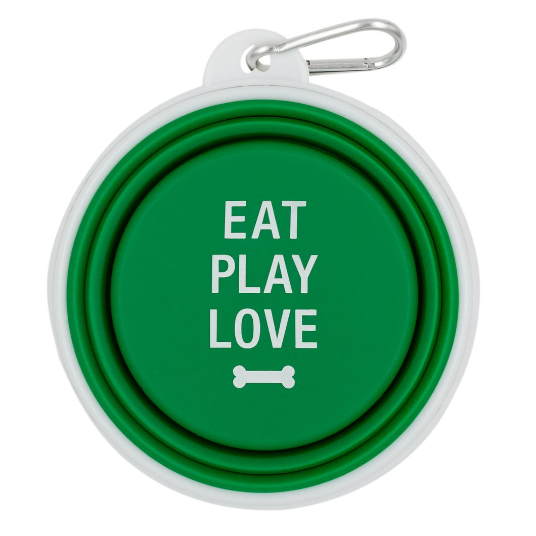 About Face Designs - Eat Play Love Silicone Dog Bowl