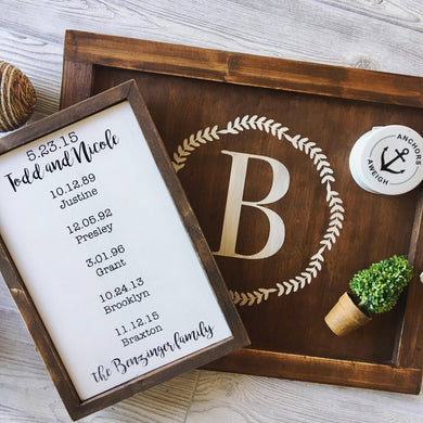 Family sign and tray Bundle