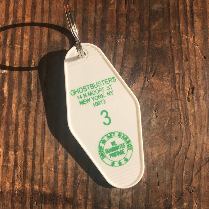 The 3 Sisters Design Co. - Motel Key Fob - Ghostbusters