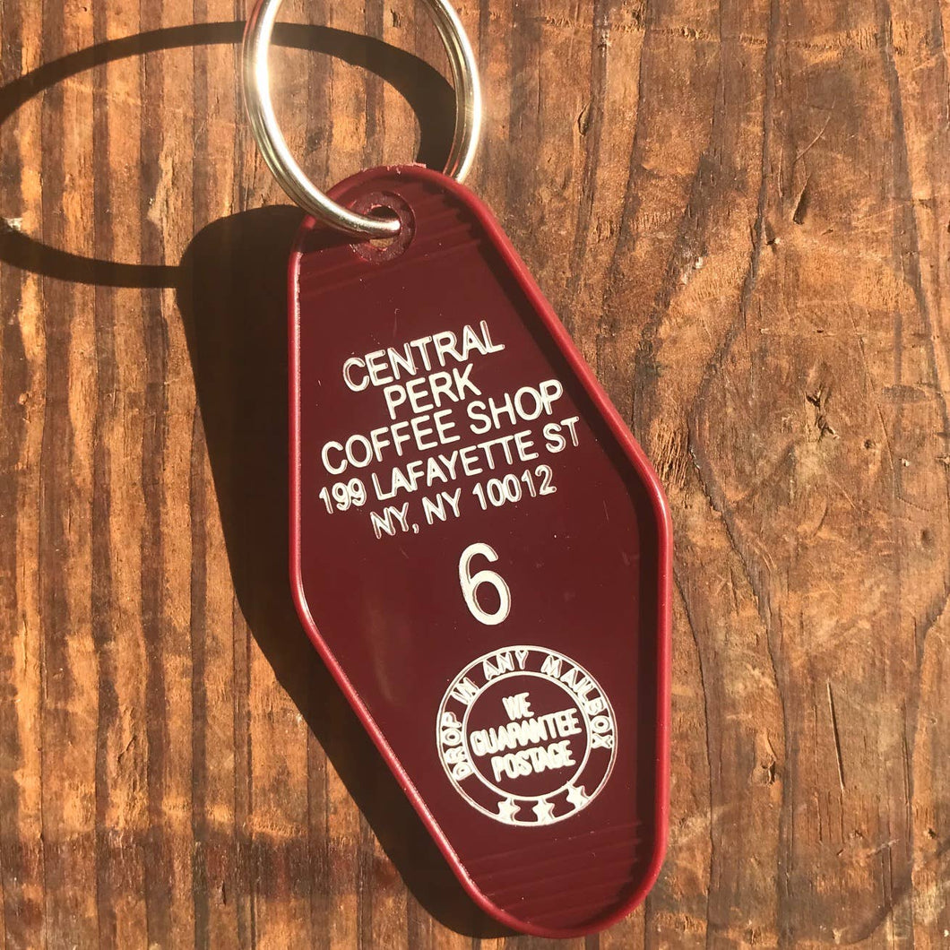 The 3 Sisters Design Co. - Motel Key Fob - Central Perk