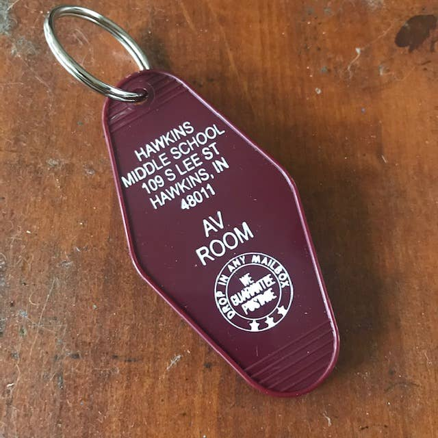 The 3 Sisters Design Co. - Motel Key Fob - Hawkins Middle School