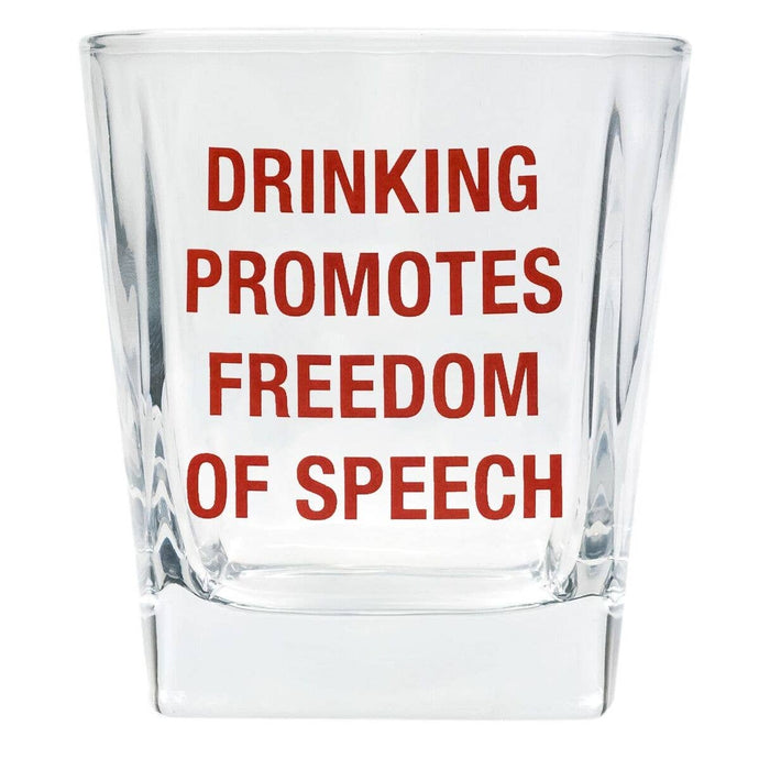 About Face Designs - Freedom of Speech Rocks Glass
